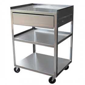 Ideal Stainless Steel Utility Cart 3 Shelf With Drawer Mc21d Minnesota Medical